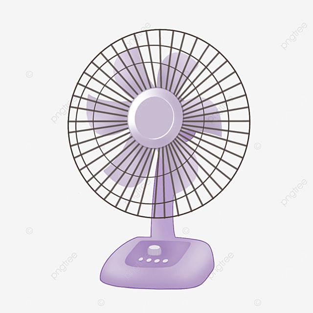 purple vertical electric fan clip art