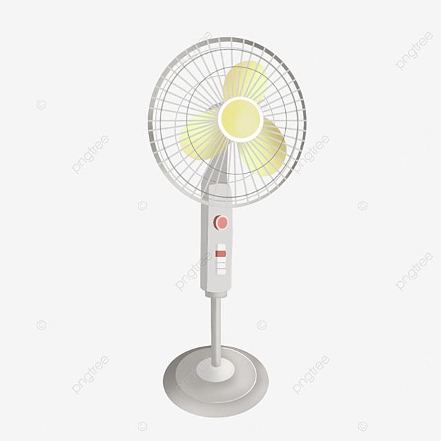 yellow fan blade electric fan clipart