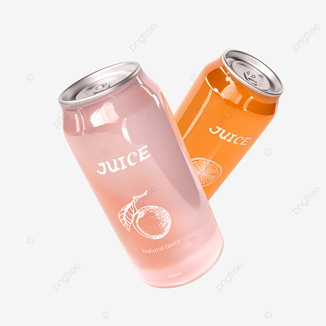 3d canned juice