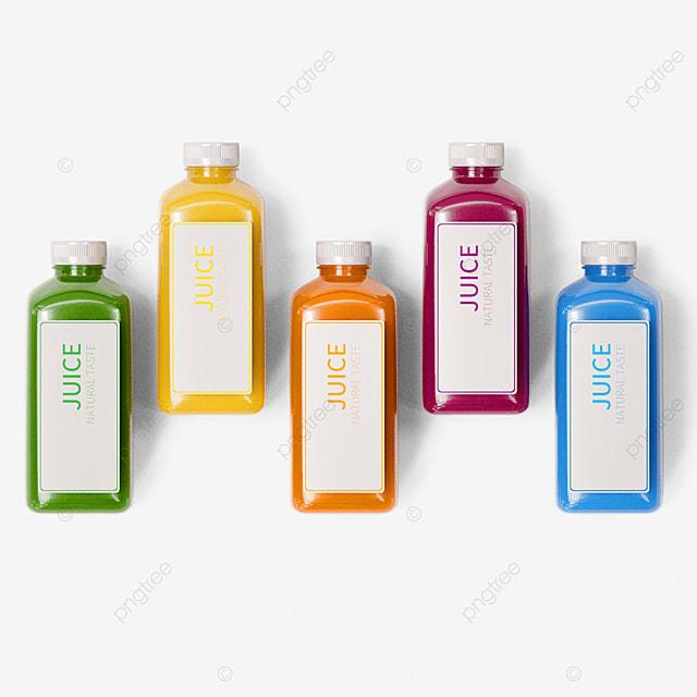 3d color juice packaging