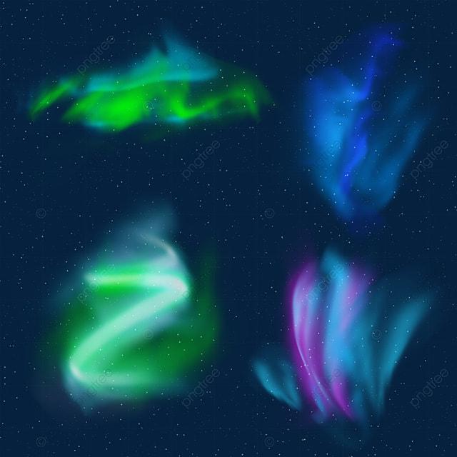 beautiful green and blue aurora light effect