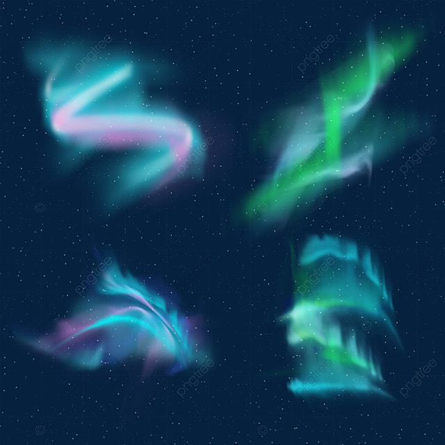 blue and pink gradient aurora light effect