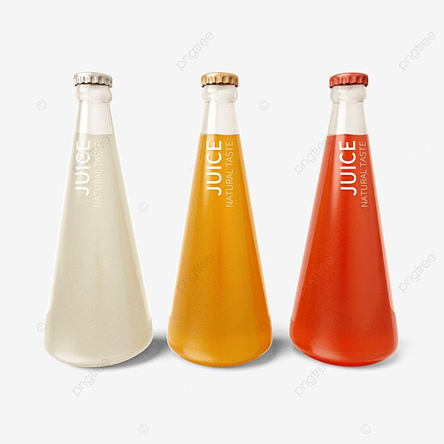 cone juice bottle