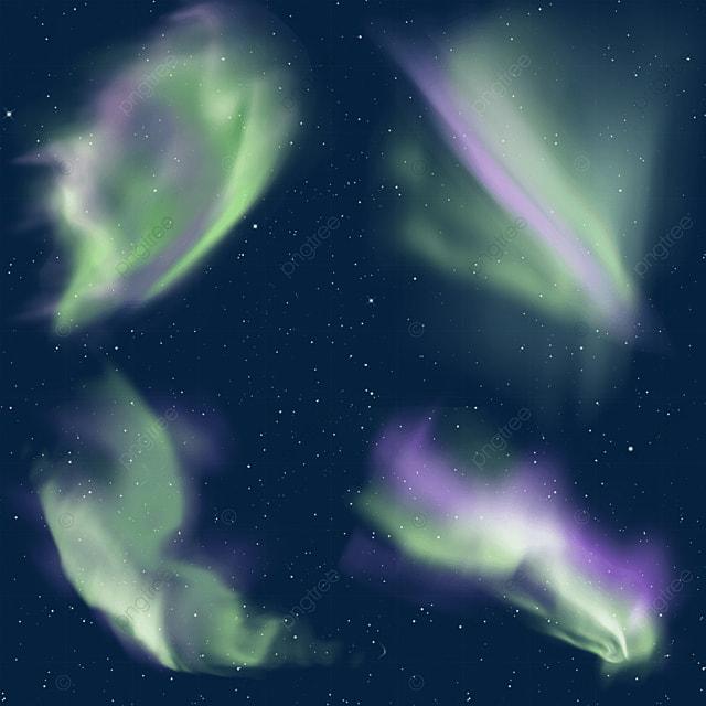 dark green and purple gradient aurora light effect
