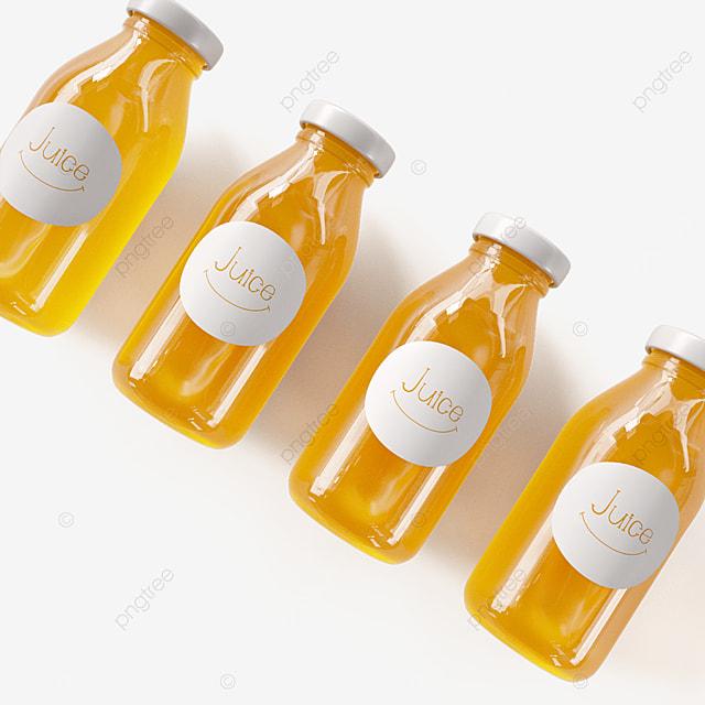 fresh orange juice bottle packaging