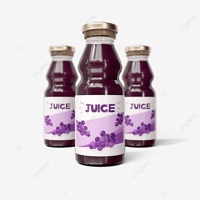 grape flavored juice glass bottle packaging