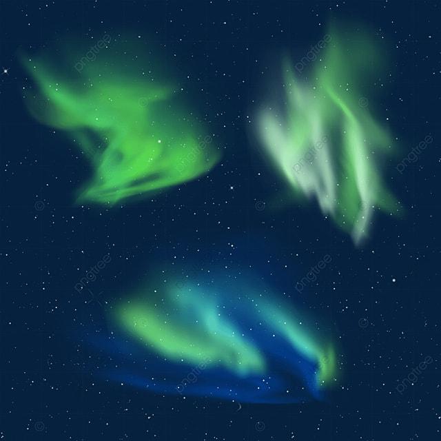green and dark blue gradient aurora light effect