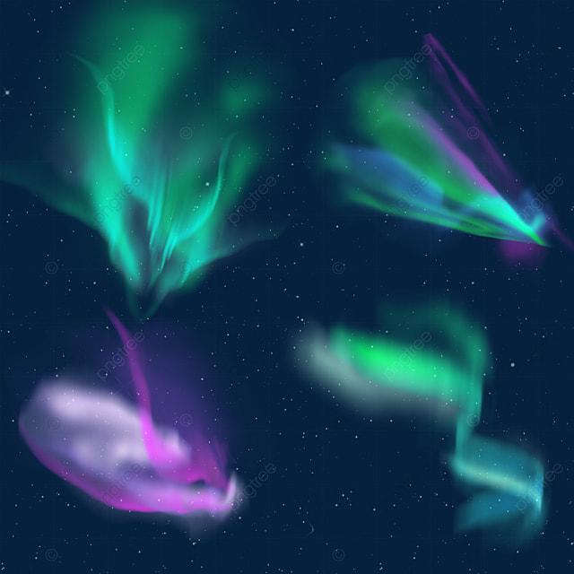 green and purple gradient smudge aurora light effect