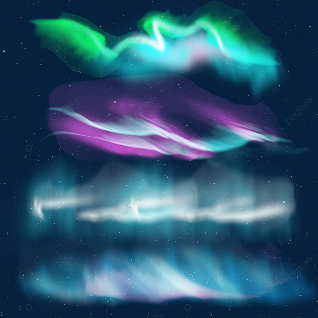 green purple and blue translucent aurora light effect