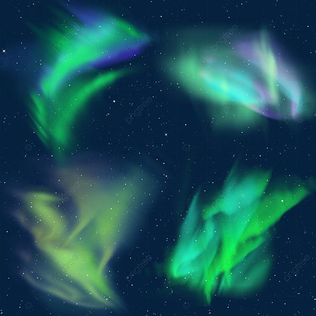 green symphony aurora light effect