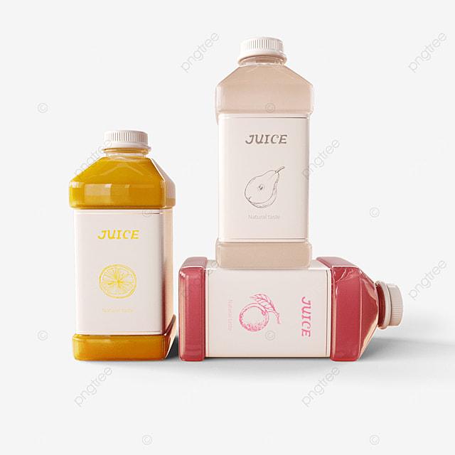 juice bottle display