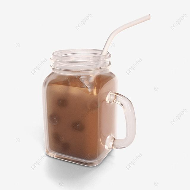 milk tea in glass