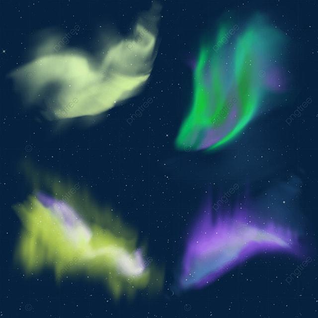purple and yellow gradient aurora light effect