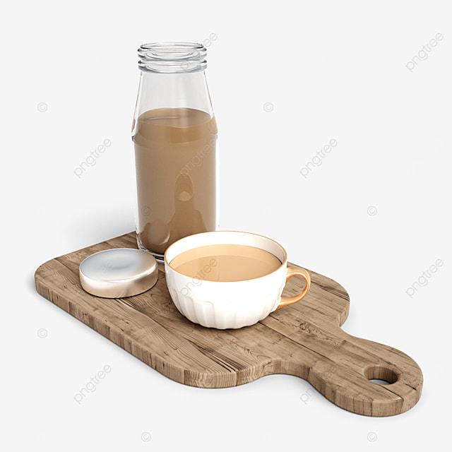 retro milk tea set