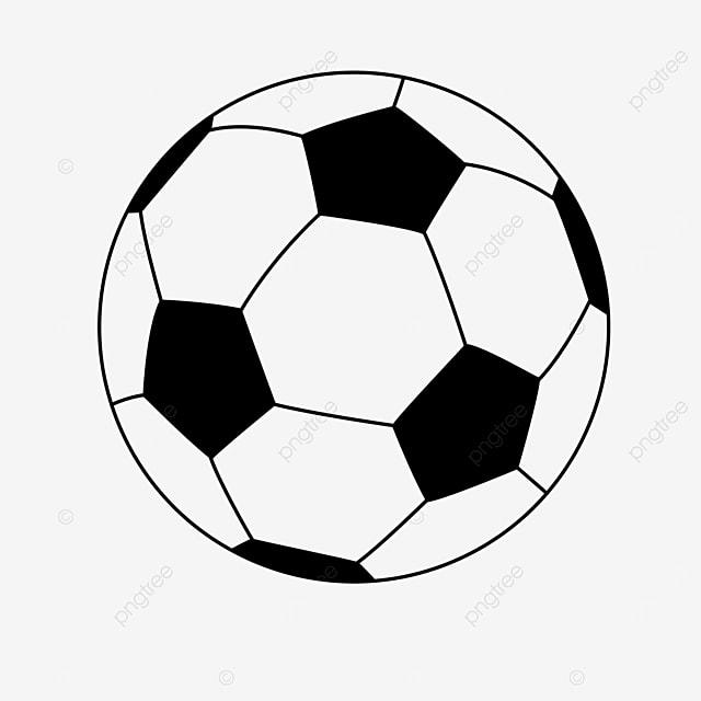 black cartoon football clipart black and white