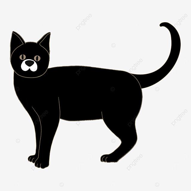 black cat looking up in a daze clip art
