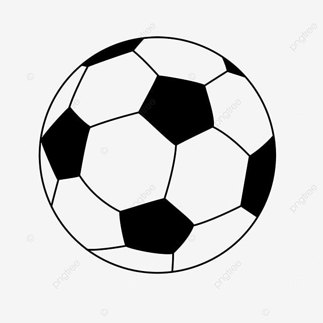 black round cartoon football clipart black and white