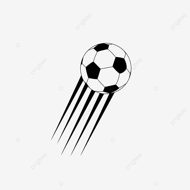 cartoon football with line