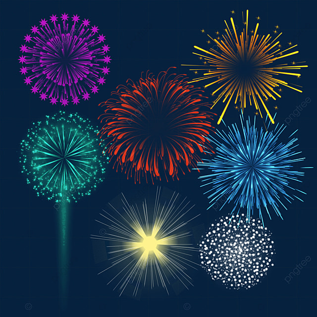 colorful happy new year new year fireworks