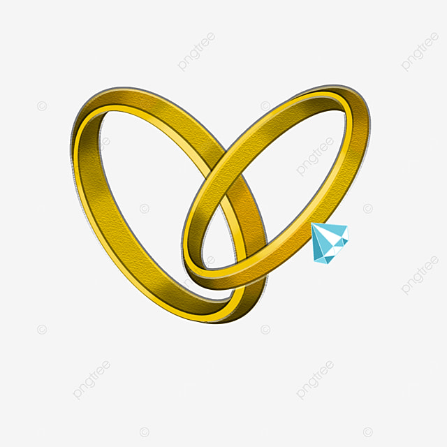 couple diamond gold ring clip art