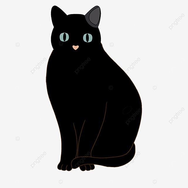 evil facial palsy black cat clip art
