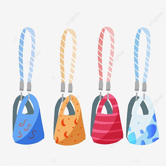 fashion colorful pattern decorated medical mask and striped rope