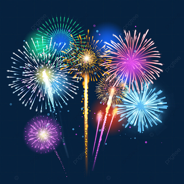 gorgeous happy new year color fireworks