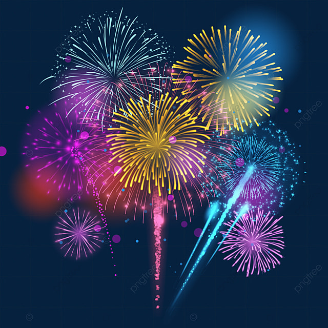 gradient sparkle colorful fireworks happy new year