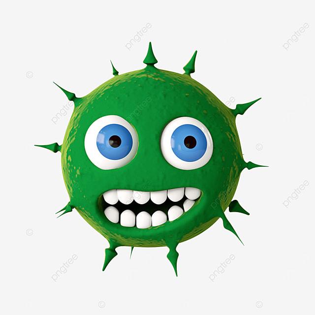 green anthropomorphic virus