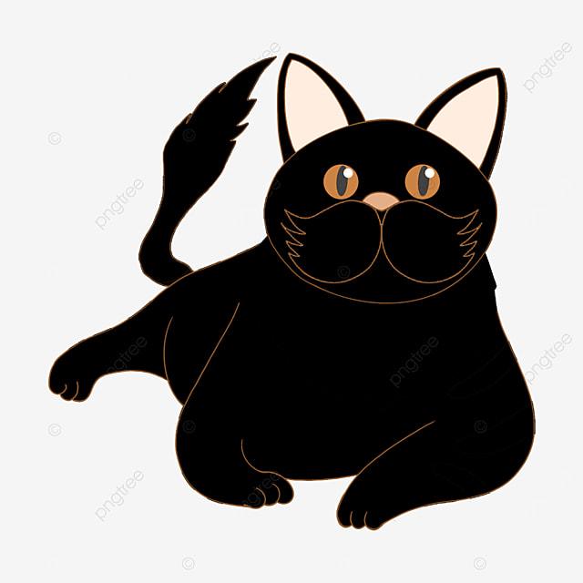 lazy nest black cat clip art