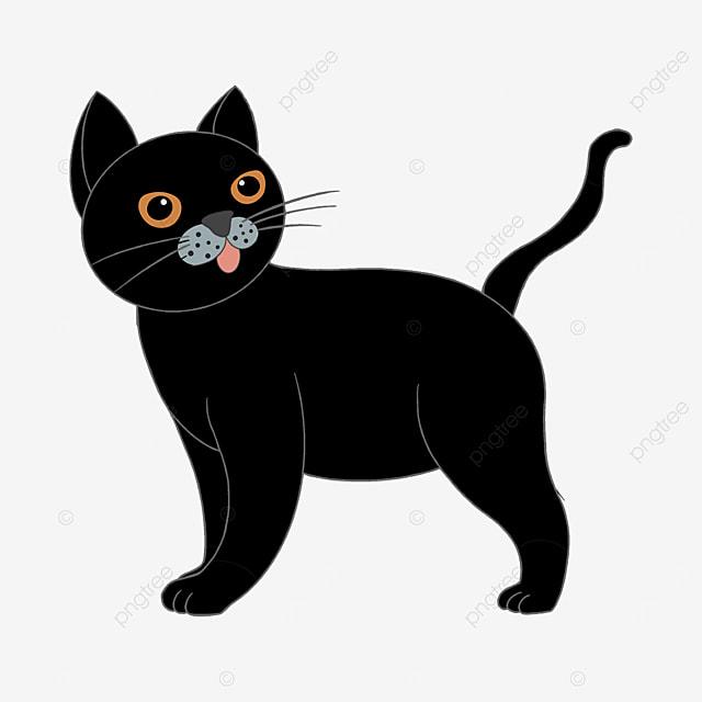 looking back humorous black cat clip art