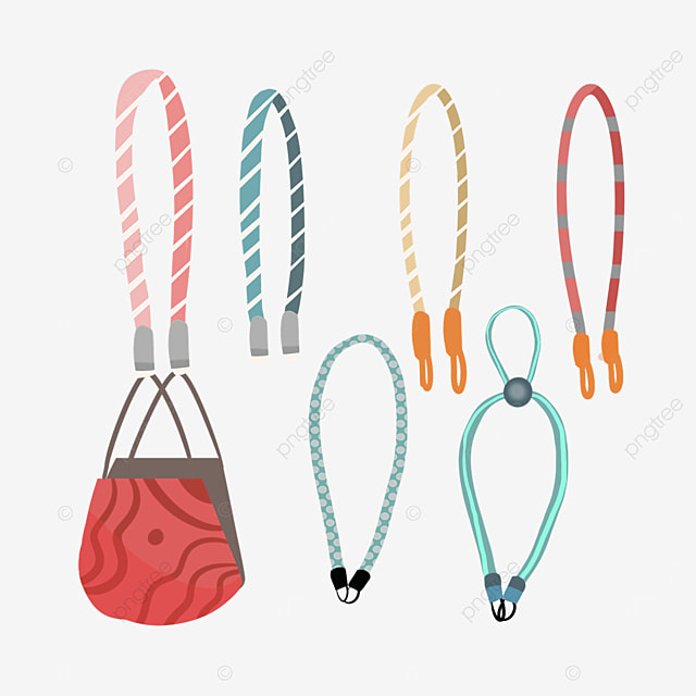red striped medical mask and replacement striped rope