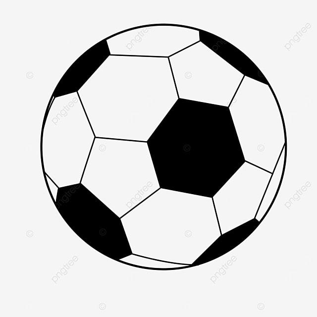 round cartoon football clipart black and white