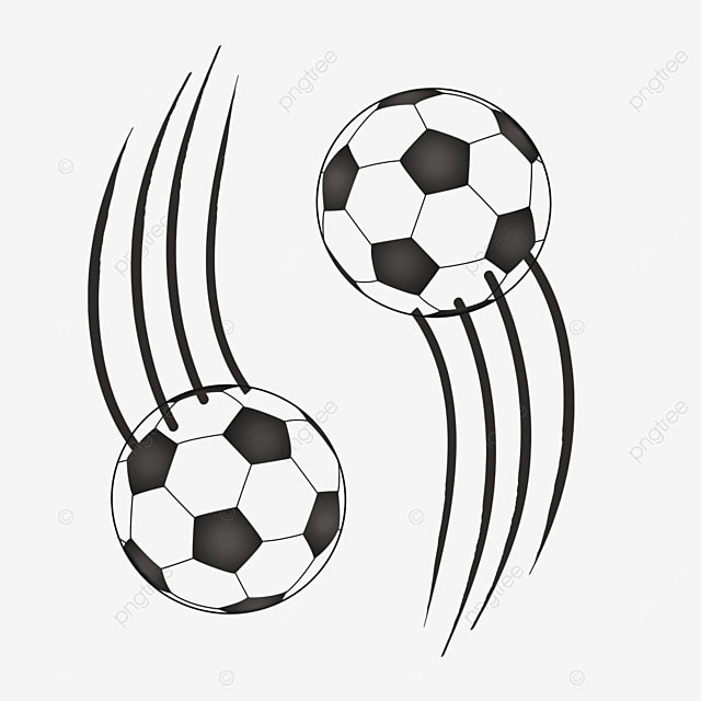 two way sports football clipart black and white