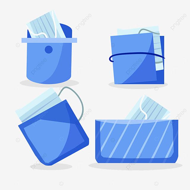blue mask bag