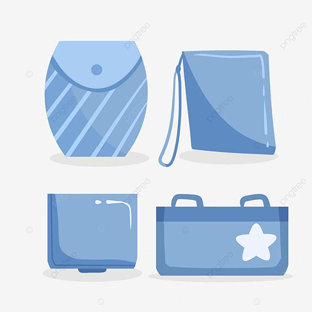 blue stripe mask protective bag