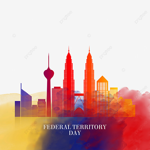 colored city silhouettes malaysia federal territory day