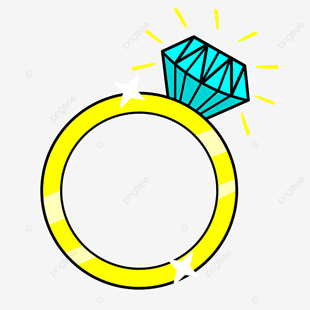 golden diamond ring clip art