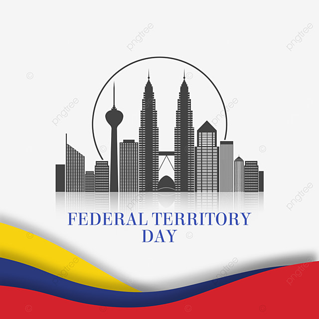 malaysia federal territory day abstract banner city buildings