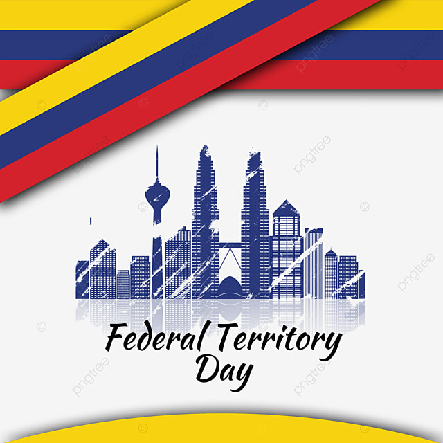 malaysia federal territory day abstract banner city silhouette brush