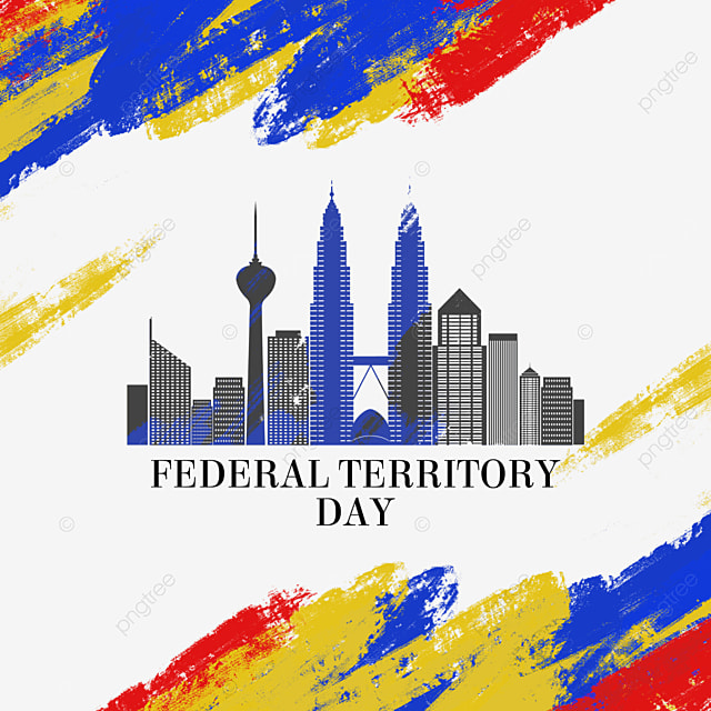 malaysia federal territory day abstract brush city paper cut