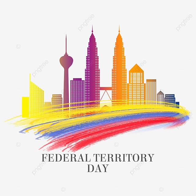 malaysia federal territory day abstract brush city
