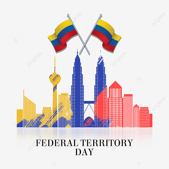 malaysia federal territory day abstract flag color city buildings