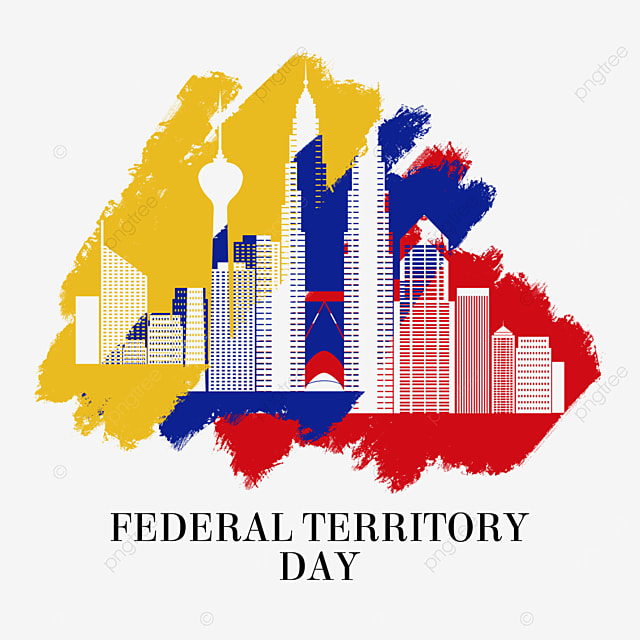 malaysia federal territory day flag brush city silhouette