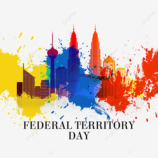 malaysia federal territory day splatter brush city architecture
