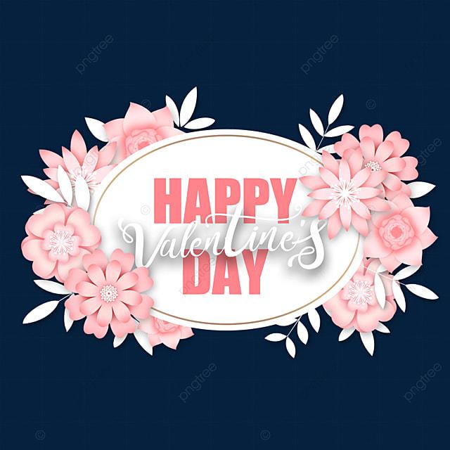 pink valentine floral border