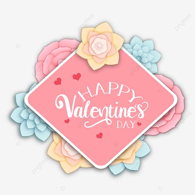 valentines day floral border love pink