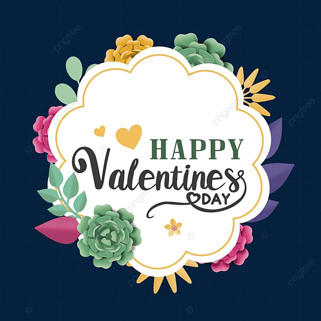 valentines day floral border love