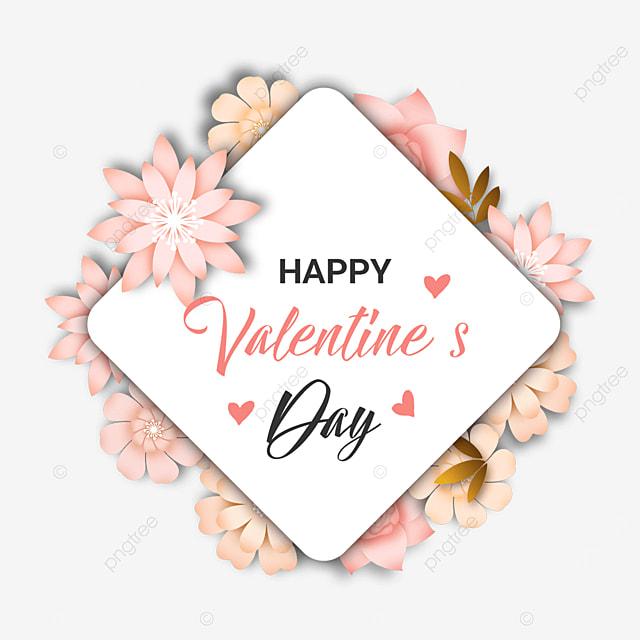 valentines day floral border pink
