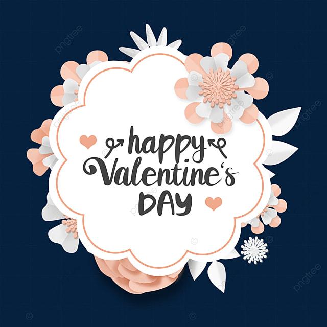 valentines day floral border romantic